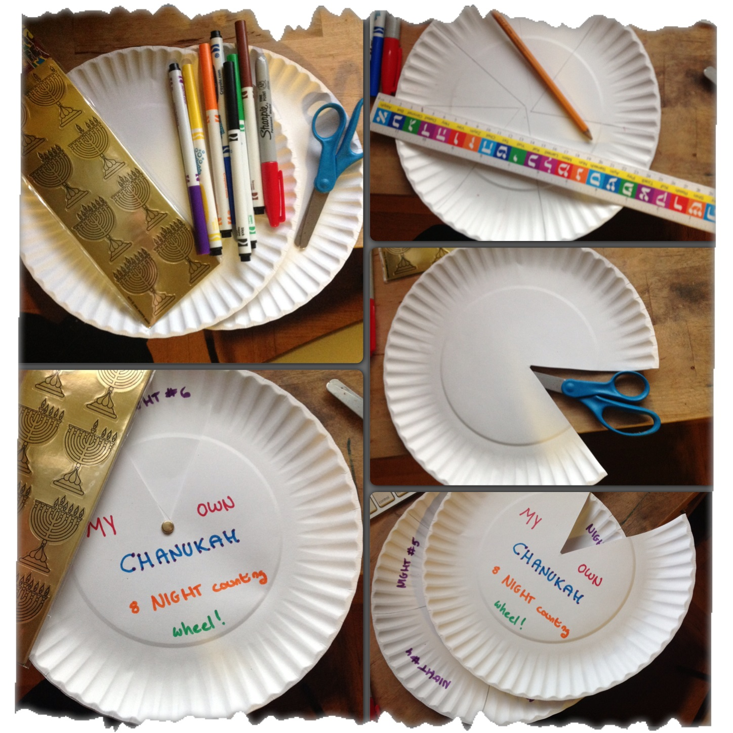 u0027101 Things to do With a Paper Plateu0027 Craft #2 Chanukah 8 Night Counting Wheel & 101 Things to do With a Paper Plateu0027 Craft #2 Chanukah 8 Night ...