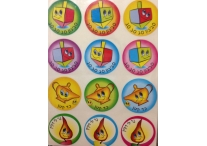 Chanukah Themed Smiling Sticker