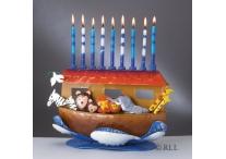 Hand Crafted Noahs Ark Menorah