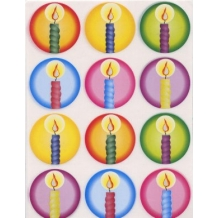 Chanukah Candle Stickers