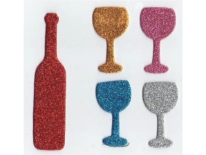 Passover Foam Glitter Shapes