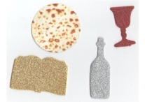 Passover Foam Glitter Shapes and Matzot