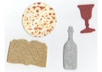 Passover Foam Glitter Shapes and Matzot