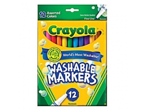 12 Classic Thin Line Crayola Markers