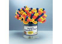 Chanukah Assorted Bendable Pens; Set of 12