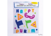 Purim Window Gel Decorations