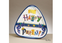 Purim Triangular Melamine Tray