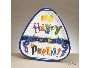 Purim Triangular Melamine Tray