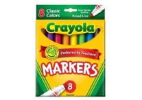 8 Count Broad Line Classic Crayola Markers