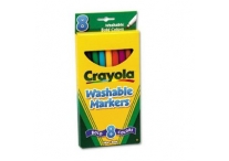 8 Color Count Thin Line Crayola Markers, Bold Colors