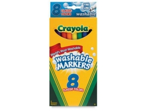 8 Color Count Thin Line Crayola Markers, Classic C...