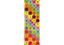 Aleph Bet, Multicolored, Round Stickers