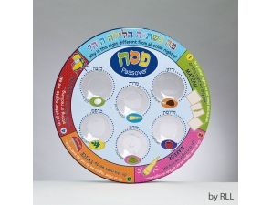 Passover Colorful Seder Plate