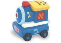 CERAMIC TZEDAKAH BOX- TRAIN