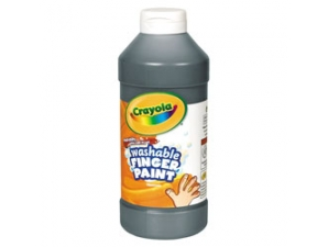 16 Oz Black Washable Crayola Finger Paint