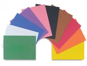 50 Count Bright Blue 12 x 18 Construction Paper Sh...