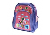 Purple Blocks Aleph Bet School Bag