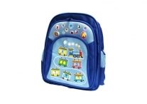 Blue Train Aleph Bet School Bag