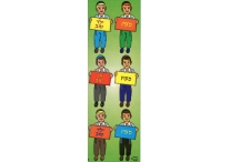 Hebrew Incentive Boys, Die-Cut Stickers