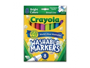 8 Count Broad Line Bright Colors Crayola Markers