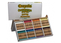 160 Count Large Crayola Construction Paper Specialty Crayons