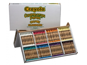 160 Count Large Crayola Construction Paper Special...
