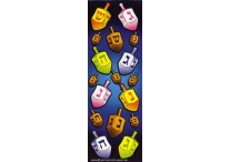 Chanukah Assorted Size Die-Cut Dreidel Stickers