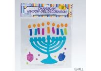 Chanukah Menorah Window Gel Decoration