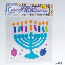 Chanukah Menorah Window ...