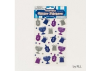Chanukah Glitter Stickers