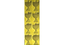 Chanukah Menorah Die-Cut Stickers, Gold