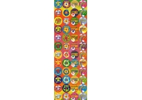 Hebrew Incentives, Multicolored Background Stickers