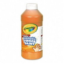16 Oz Orange Washable Cr...