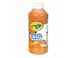16 Oz Orange Washable Crayola Finger Paint