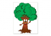 Mitzvah Tree Poster; Laminated