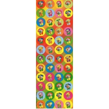 Purim Clown Dot Stickers