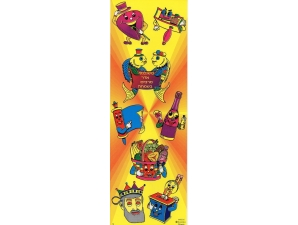 Purim Themed Die-Cut Stickers