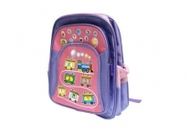 Purple Train Aleph Bet School Bag