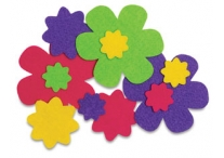 36 Self Adhesive Felt Flowers