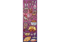 Shabbos Kodesh Purple, Die-Cut Stickers