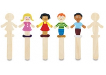 36 Boy/Girl Wooden Craft Sticks
