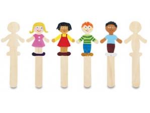 36 Boy/Girl Wooden Craft Sticks