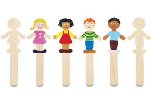 36 Boy Girl Wooden Craft Sticks