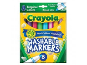 8 Count Broad Line Tropical Crayola Markers