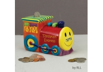 Tzedakah Express Train; Ceramic