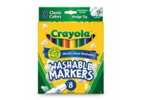 8 Count Wedge Tip Classic Crayola Markers