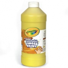 16 Oz Yellow Washable Cr...